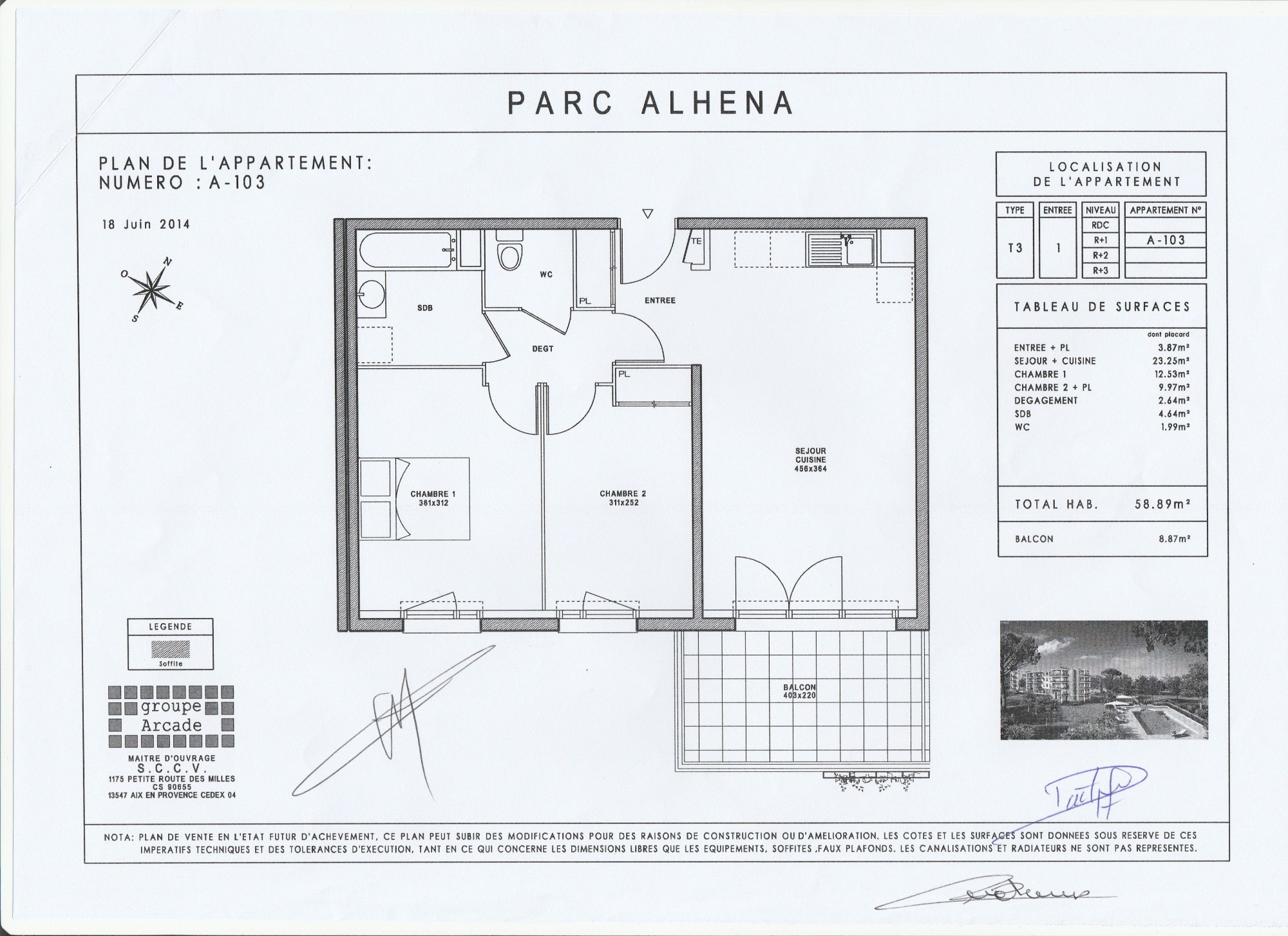 plan appartement norme